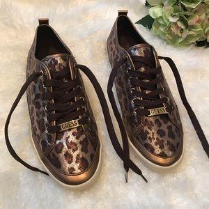 Guess cheetah print sneakers